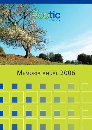 MEMORIA ANUAL - Ecotic