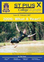 St Pius X Issue18.indd - St Pius X College, Chatswood