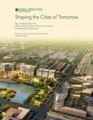 Shaping the Cities of Tomorrow - Bay Area Council Economic Institute