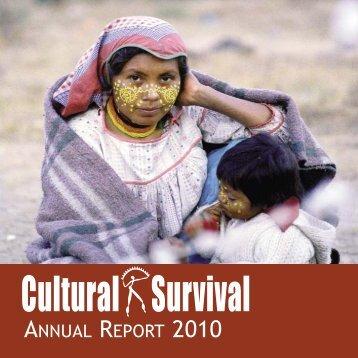 Annual Report 2010 - Cultural Survival