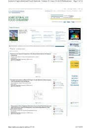 Page 1 of 12 Journal of Agricultural and Food Chemistry: Volume 57 ...