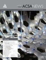 ACSA Announces the 2010-11 Award Winners - Association of ...