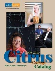 Citrus College Catalog 2009-2010 (ver. 10/22