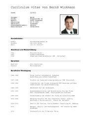 Curriculum vitae von Bernd Winkmann