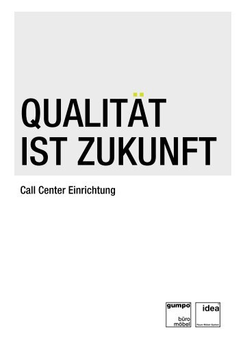 Call Center Einrichtung - gumpo Büromöbel