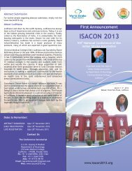 First Announcement - ISACON 2013