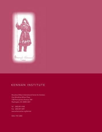 Kennan InstItute - Woodrow Wilson International Center for Scholars