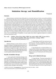 Inhalation Therapy and Humidification - medIND