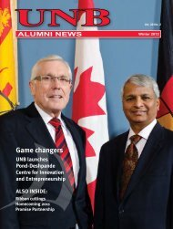 ALUMNI NEWS - University of New Brunswick
