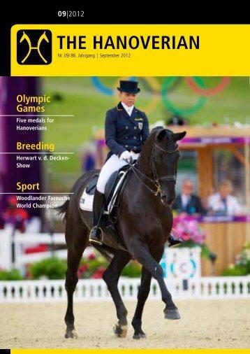 The Hanoverian 09|2012 - the American Hanoverian Society!