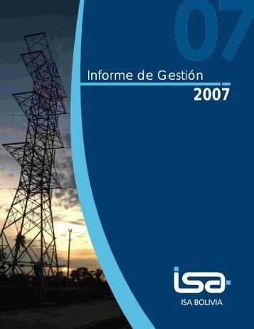 Informe de Gestión 2007 - ISA Bolivia