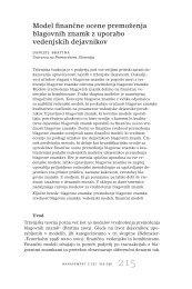Model finanˇcne ocene premoženja blagovnih znamk z uporabo ...