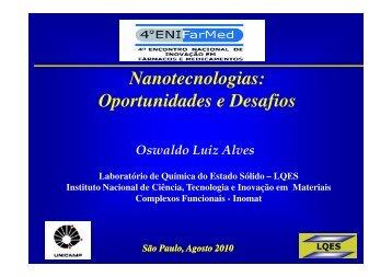 Oswaldo Luiz Alves – LQES - IPD-Farma