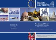 The Emerged Market - Business for New Europe
