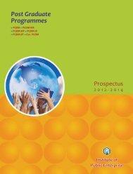 PGDM Prospectus 12-14 - Institute of Public Enterprise