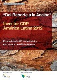 Investor CDP América Latina 2012 - Carbon Disclosure Project