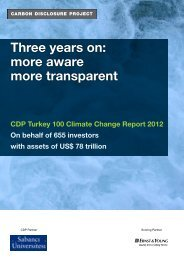 Three years on: more aware more transparent - Carbon Disclosure ...