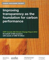 CDP Canada 200 Climate Change Report 2012 - Carbon ...