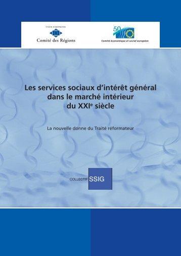 Les services sociaux d'intérêt général dans le marché ... - Europa
