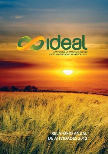 RelatóRio anual De ativiDaDes 2012 - Instituto IDEAL