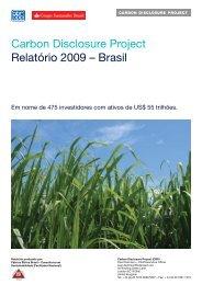 Questionário do CDP7 2009 - Carbon Disclosure Project