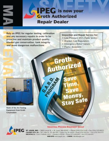 is now your Groth Authorized Repair Dealer - IPEG - St Louis