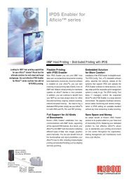 IPDS Enabler for Aficio™ series - Ricoh
