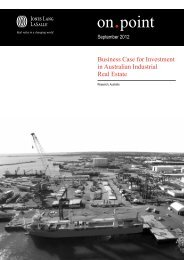 Business Case for Investment in Australian Industrial Real Estate