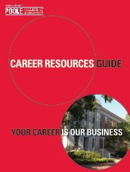 career resources guide - Poole College of Management at North ...