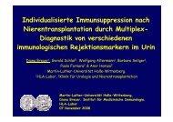 Individualisierte Immunsuppression nach Nierentransplantation ...