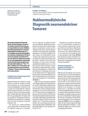 Nuklearmedizinische Diagnostik neuroendokriner Tumoren