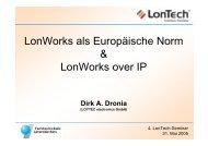 LonWorks als Europäische Norm & LonWorks over IP