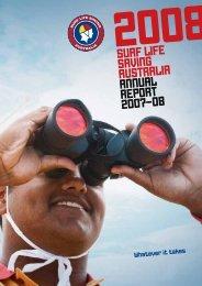 SURF LIFE SAVING AUSTRALIA ANNUAL REPORT 2007–08