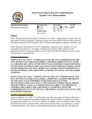 Agenda Cover Memorandum for 06/ - City of West Palm Beach