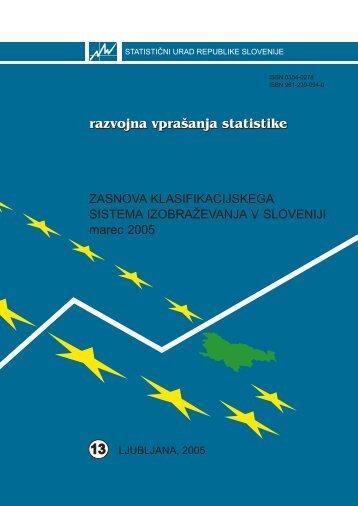 Zasnova klasifikacijskega sistema izobraževanja v Sloveniji - marec ...