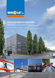 siebter secur immobilien rendite fonds - MP BRANDL GmbH & Co. KG