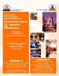 INTEGRATED DESIGN PROCESS TECHNOLOGY - SDPS