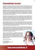 Joensuun Seudun Diabetes ry - Kotisivukone - Page 3