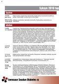 Joensuun Seudun Diabetes ry - Kotisivukone - Page 6