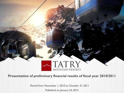 367eef7d51915 Prezentácia programu PowerPoint - Tatry Mountain Resorts