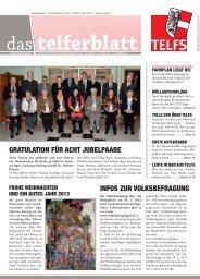 Telferblatt 209 vom 07.12.12 - Marktgemeinde Telfs