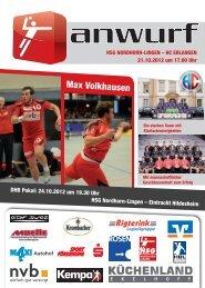 HC Erlangen / 24.10.2012 - Eintracht Hildesheim