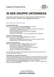 IN DER GRUPPE UNTERWEGS - Bad Sassendorf