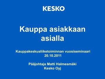 Kauppa asiakkaan asialla - Suomen Kauppakeskusyhdistys ry
