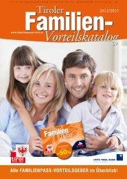 Vorteilskatalog 2012 - Tirol - Familienpass