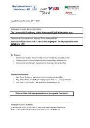 Die Universität Salzburg bildet Intersport Eybl-Mitarbeiter ... - PR Portal