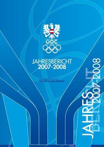 JAHRESBERICHT 2007-2008 - Österreichisches ... - ÖOC