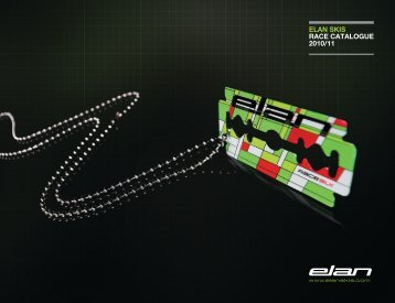 ELAN SKIS RACE CATALOGUE 2010/11