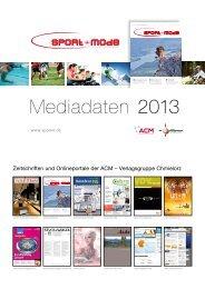 Mediadaten 2013 deutsch - Sport + Mode