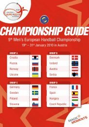 EHF EURO Guide - the official championship guidebook (68